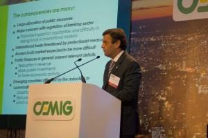 Aécio fez palestra a investidores estrangeiros e analistas de mercado, a convite da Bolsa de Valores de Nova York (Nyse)