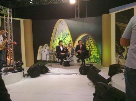 Aécio e Chalita no programa Papo Aberto, da TV Canção Nova  - Foto: Gabriel Azevedo
